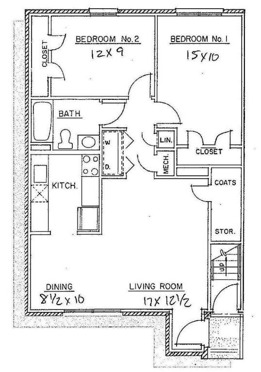 Small 2 Bedroom Apartment Floor Plans